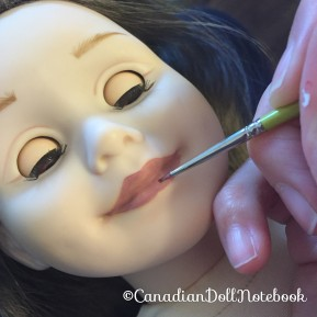 How to Paint Your Doll's Lips